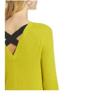HALOGEN® Cross Back Sweater  | Lime XXL